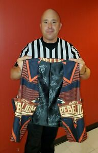 Custom-Made & Autographed Rebellion Vest, Worn by IMPACT Referee Brandon Tolle