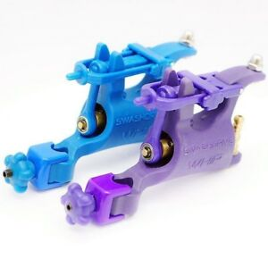 New 2 Assorted Blue&Purple Whip Rotary Tattoo Machine Motor Gun For Liner Shader