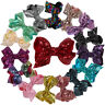 4.3inch Big Large Sequin Hair Bow Alligator Clip Headwear Girls Hair Accessories