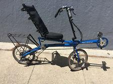 Bike Friday Sat-R-Day folding recumbent, BLUE, ORIGINAL OWNER, RIDES GREAT!!!