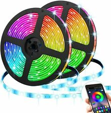 16.4ft Bluetooth LED Strip Lights Waterproof 5050 RGB Music Sync Tik Tok Lights