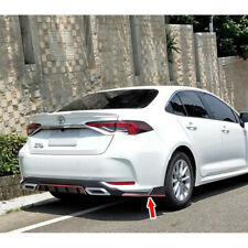 Painted For Toyota Corolla Altis 12th MF Look Rear Side Splitter Spoiler 2PCS