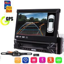 "7"" Single 1 DIN Car Stereo DVD Player GPS Bluetooth Head Unit Radio Camera AU"
