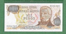 World Banknotes Argentina 1000 Pesos 1976 UNC P 304d.1 sign Lopez/Ianella