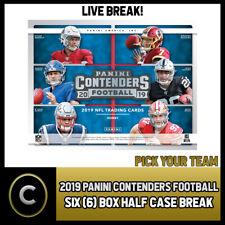 2019 PANINI CONTENDERS NFL 6 коробка (половина чехол) перерыв #F709 — выбирайте свою команду