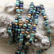 6/0 Blue Lagoon Picasso Mega Mix Miyuki seed beads - 30g, ocean Picasso beads