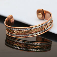 Copper Bracelet Women Cuff Link Copper Magnetic Pain Therapy Healing Bio Bangle