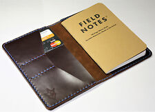 Handmade Leather Case Cover  Field Notes Moleskine Oxblood York Wallet Burgundy