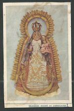 Holy card antique foto de la Virgin de Consolacion  estampa santino image pieuse