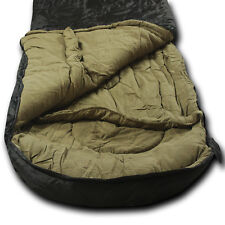 Wolftraders LoneWolf -30℉ Oversized Premium Comfort Sleeping Bag, Black/Tan