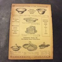 Antique Catalogue Page - Pudding Bowls, Luncheon Trays, Gongs