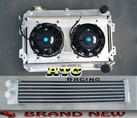 For Mazda RX7 RX-7 S1 S2 S3 79-85 Aluminum Radiator + shroud + fan + oil cooler