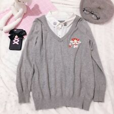 Japanese Preppy Style Harajuku Vintage Sweet Lolita Knitwear Sweater Coat Tops