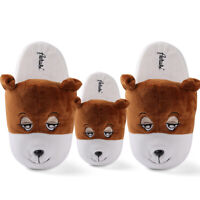 Adults Kids Cute Animal Plush Stuffed Slippers Winter Warm House Indoor Shoes