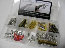 Bead Loom Slider Clasp Jumbo Kit #2, 58 Pieces, 1/4 Inch to 1 1/2 Inch