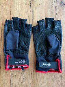 "Cabela's ""Guidewear"" WINDSTOPPER 1/2 Finger Fishing Gloves, Men's 2XL, Black, Re"