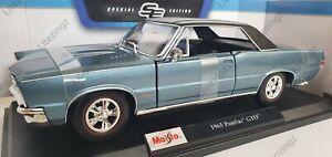 NEW MAISTO 1:18 Diecast Model Car 1965 Pontiac GTO in Light Blue Metallic