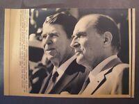 AP Wire Press Photo 1981 French Pres Francois Mitterrand & Pres Reagan #2