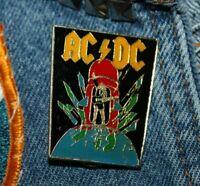 Vintage ACDC enamel pin NOS retro 80s Australia Hat Lapel Bag hard rock sweet