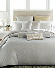 NEW Hotel Collection Finest Silver Leaf FULL/QUEEN Duvet Cover Bedding $530 D506