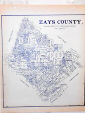 Old Hays County Texas Land Office Owner Map San Marcos Buda Kyle Wimberly Austin
