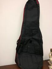 4/4 Cello Musical Instrument Soft Bag - Black Carry Gig Case w/ Bow in Sleeve