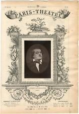 Quinet Alexandre, Paris-Théâtre, Antoine Louis Prosper Lemaître, dit Frédérick L