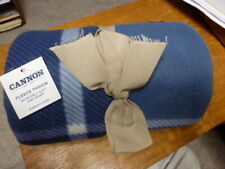 :)  NWT Cannon Fleece Throw 60 x 50  Blue Plaid 100% polyester