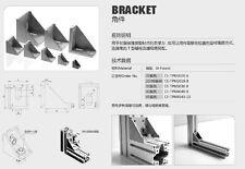 SYSTEM 30 ALUMINIUM T-SLOT FRAME PROFILE EXTRUSION BRACKET 3030