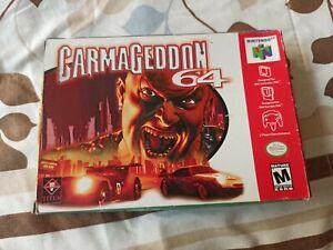 Carmageddon 64 (Nintendo 64, 2000) CIB Complete