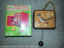 Pull String Music Box Ornament 1960's 1970s Vintage Roadrunner Collectible New