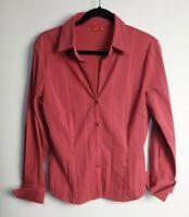 Esprit Women's Salmon Pink Stretch Long Sleeve Shirt Size 14