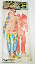Six Million Dollar Man Dress-up carte Figure 1978 Steve Austin Paper Doll 1970 S