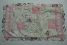 Domestications Pillow Sham Cover Patchwork Shabby Cottage Long Rose Pink 22 x 38