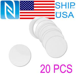 20 PCS NTAG215 Blank NFC Round Cards Tags TagMo Amiibo Compatible Android USA