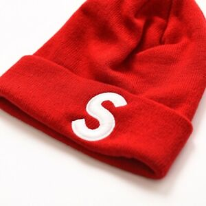 RED Supreme S Logo Beanie, *BRAND NEW - FREE FAST SHIPPING!!