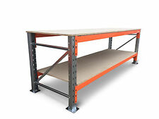 WORKBENCH HEAVY DUTY STEEL PALLET RACKING 2 TIER (FLAT PACKED)