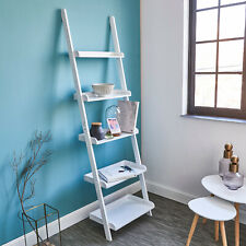 New White Ladder Shelf | Wooden Ladder Shelving Unit | Reduced Price | Flatpack