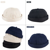 Men Cotton Street Casual Docker Sailor Biker Hat Loop Beanie Brimless Cap Gift