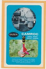Advertising Postcard - Estes Camroc Aerial Photo Rocket Camera