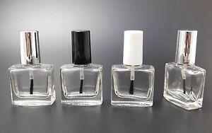 Lots of 10ml Rectangle nail varnish polish bottles glass- empty