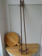 V2231 Antike Skistöcke um 1930 ~ RAR ~ Skistock ~ Super Winter Deko ~ 143cm lang