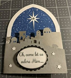 Nativity Religious Jesus trifold Christmas card kit made with some Stampin Up