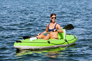 Bestway Inflatable Kayak Fishing Boat Canoe Koracle 1 Person Hand Pump Paddle
