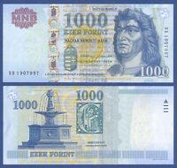 UNGARN / HUNGARY 1000 Forint 2015 UNC  P.197 e