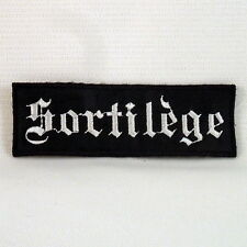 SORTILEGE Band Logo (Embroidered Small Patch) (NEW)