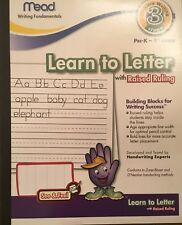 Mead Learn to Letter with Raised Ruling Pre -K-1