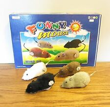 4 NEW WIND UP FUNNY MOUSE RUNNING FURRY MICE CAT TOY GAG GIFT PRANK 4 COLORS