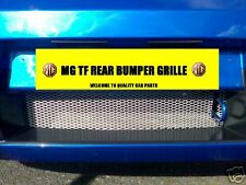 MGTF LE500 CHROME REAR BUMPER GRILLE MESH & INSTRUCTION