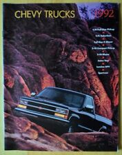 CHEVROLET CAMION 1992 USA inchiostri BROCHURE-Blazer Astro LUMINA APV sportvan